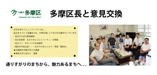 多摩区長との意見交換-長沢まちづくり協議会